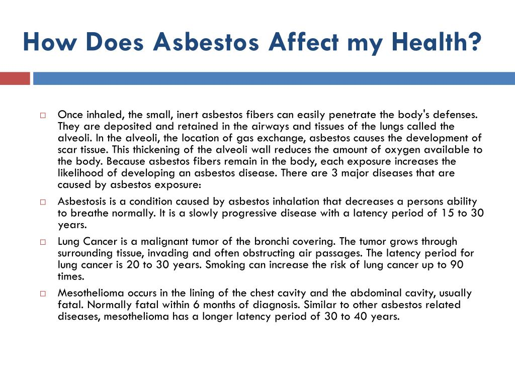 How Does Asbestos Affect my Health?
