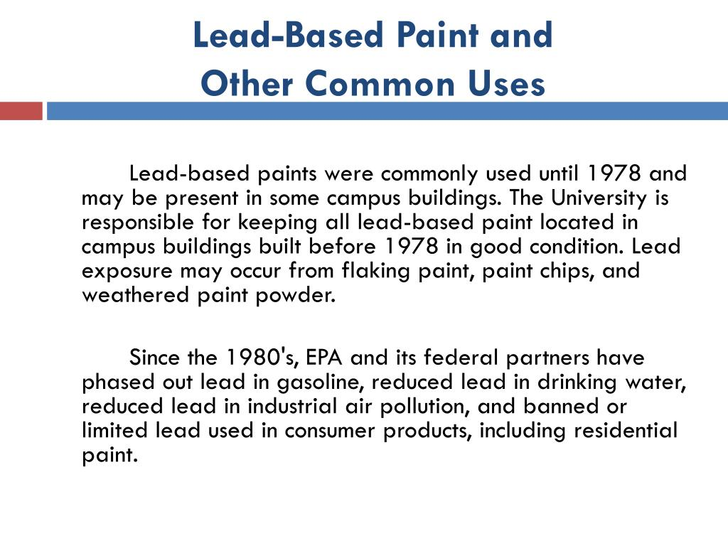 Lead-Based Paint and