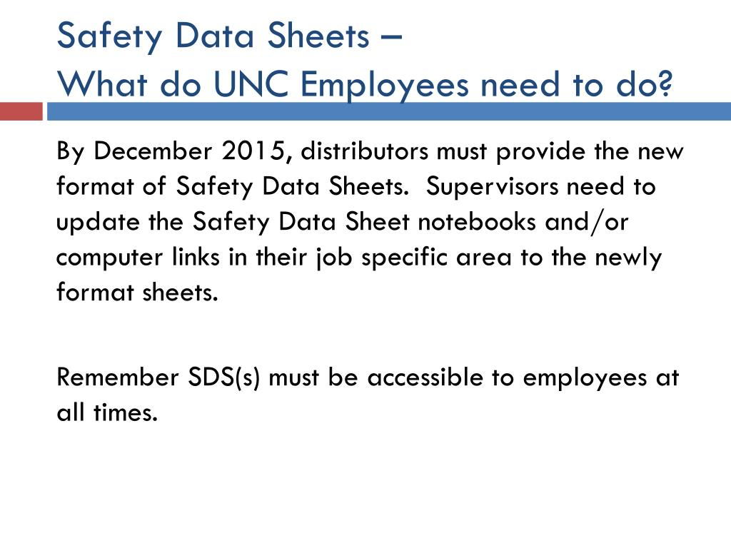 Safety Data Sheets –