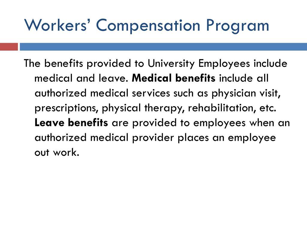 Workers' Compensation Program