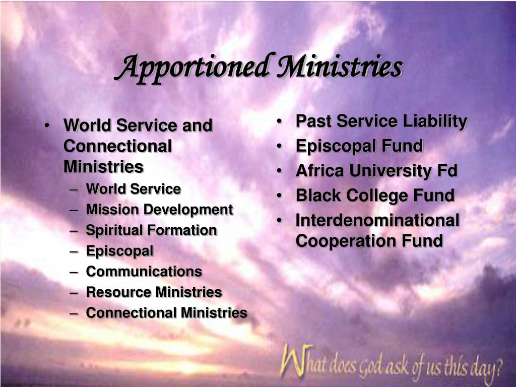 Apportioned Ministries