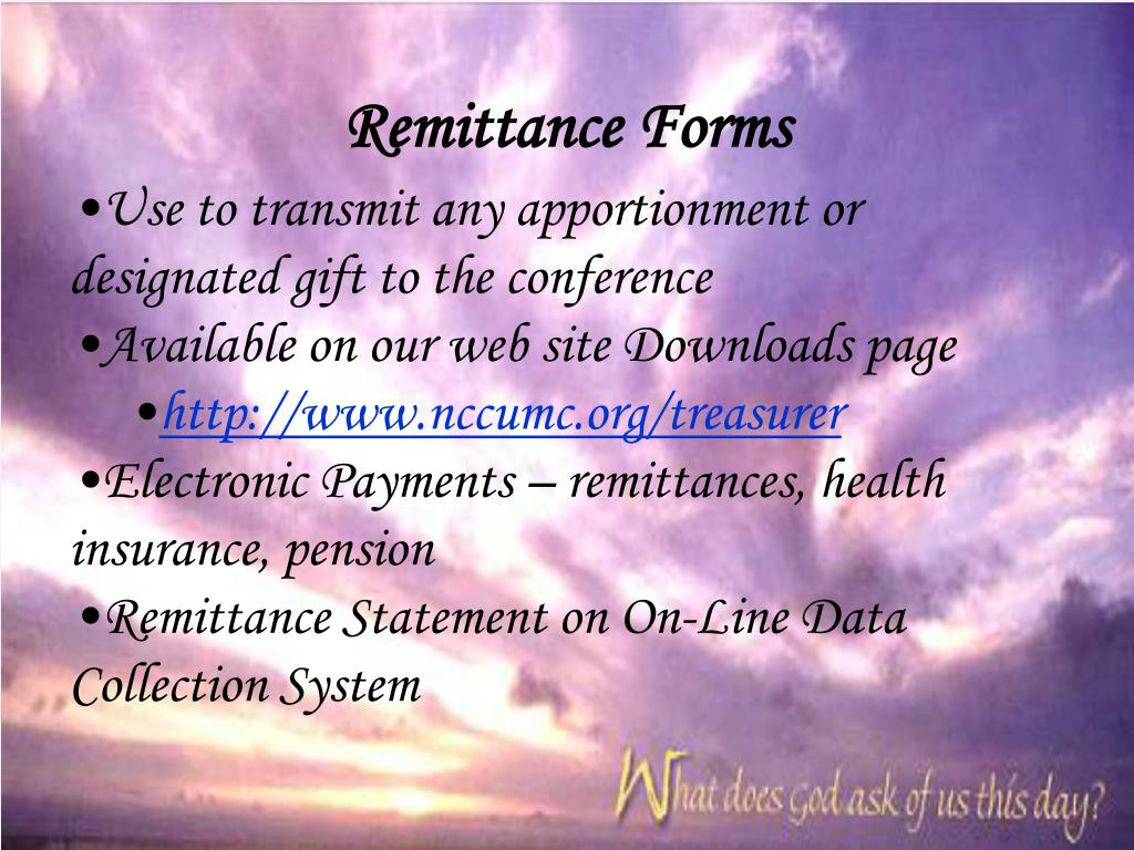 Remittance Forms