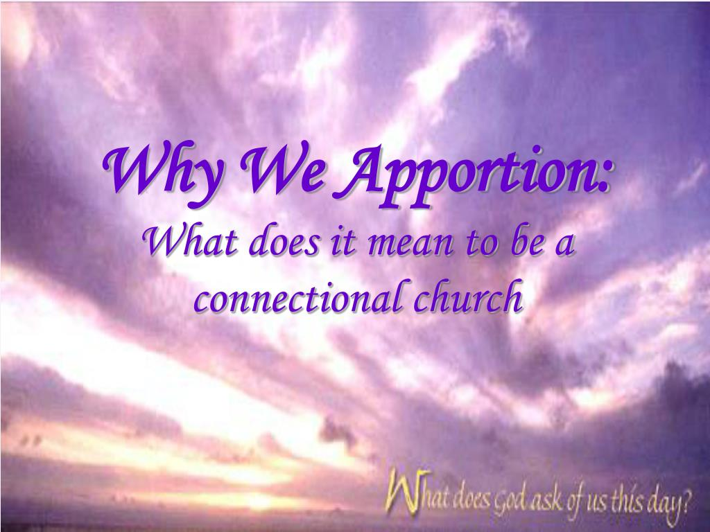 Why We Apportion: