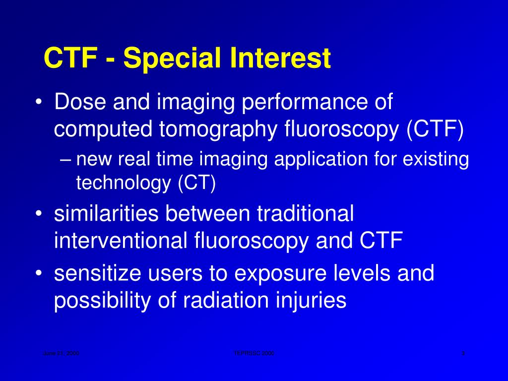 CTF - Special Interest