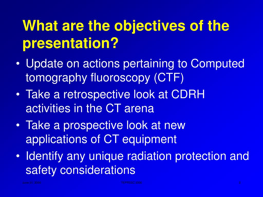 What are the objectives of the presentation?