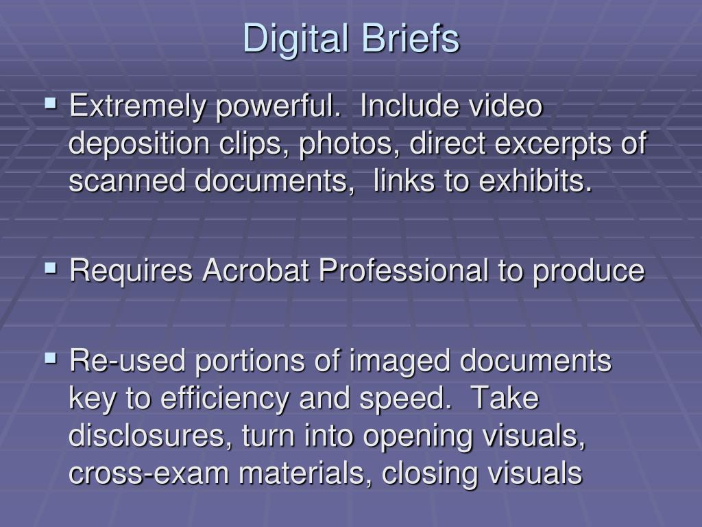 Digital Briefs
