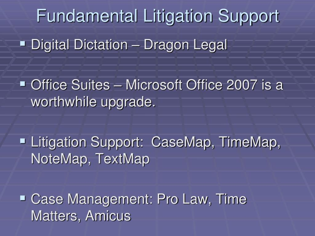 Fundamental Litigation Support