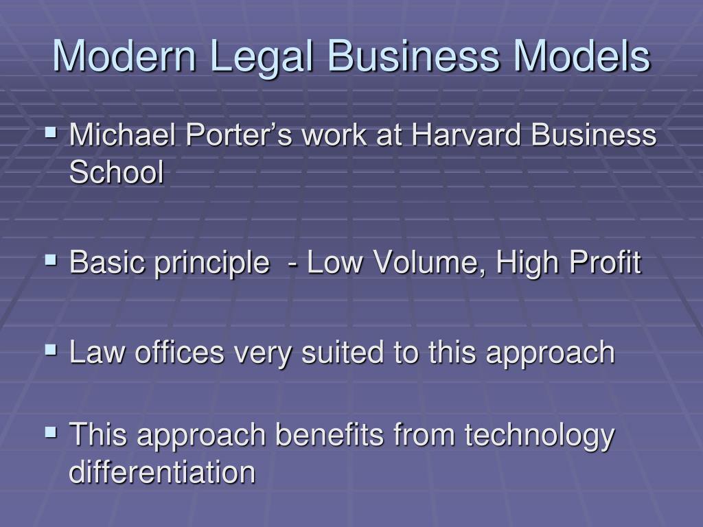 Modern Legal Business Models