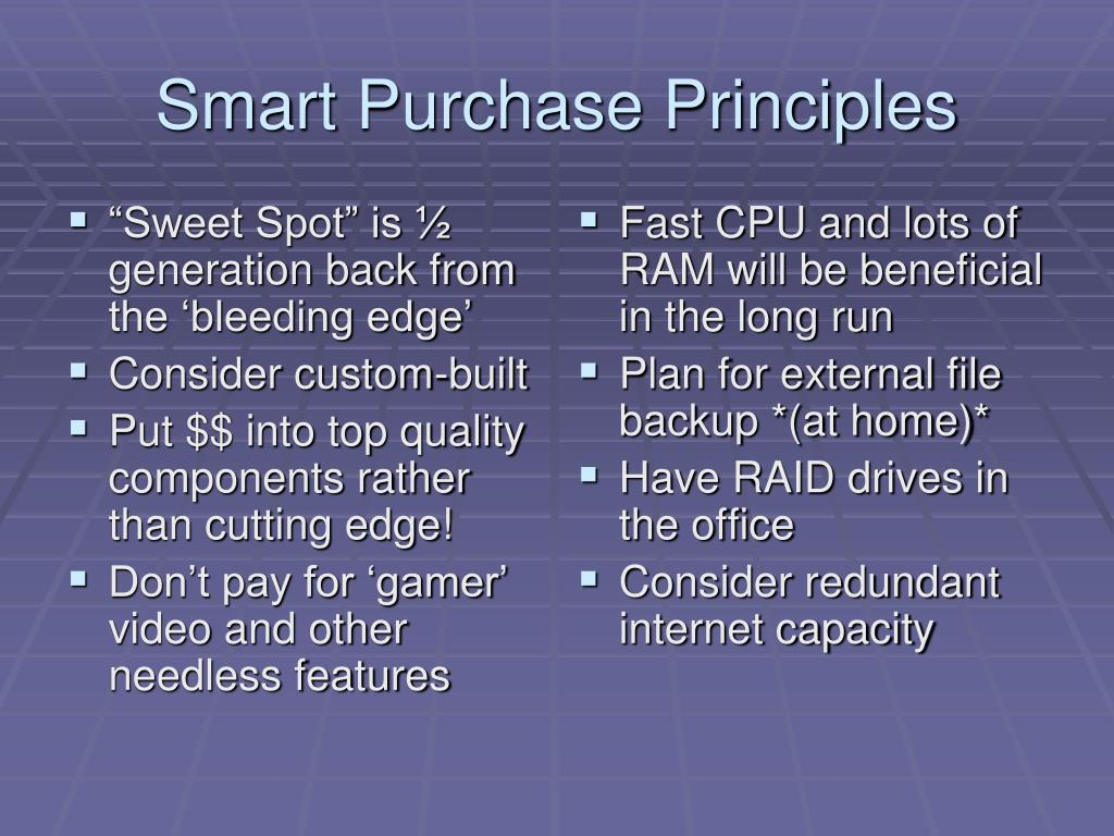 Smart Purchase Principles