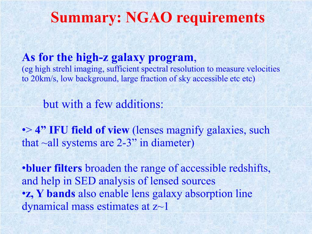 Summary: NGAO requirements