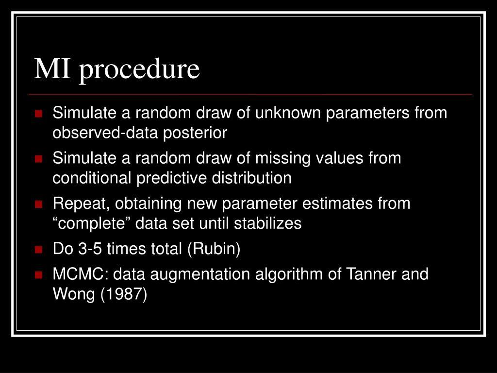 MI procedure