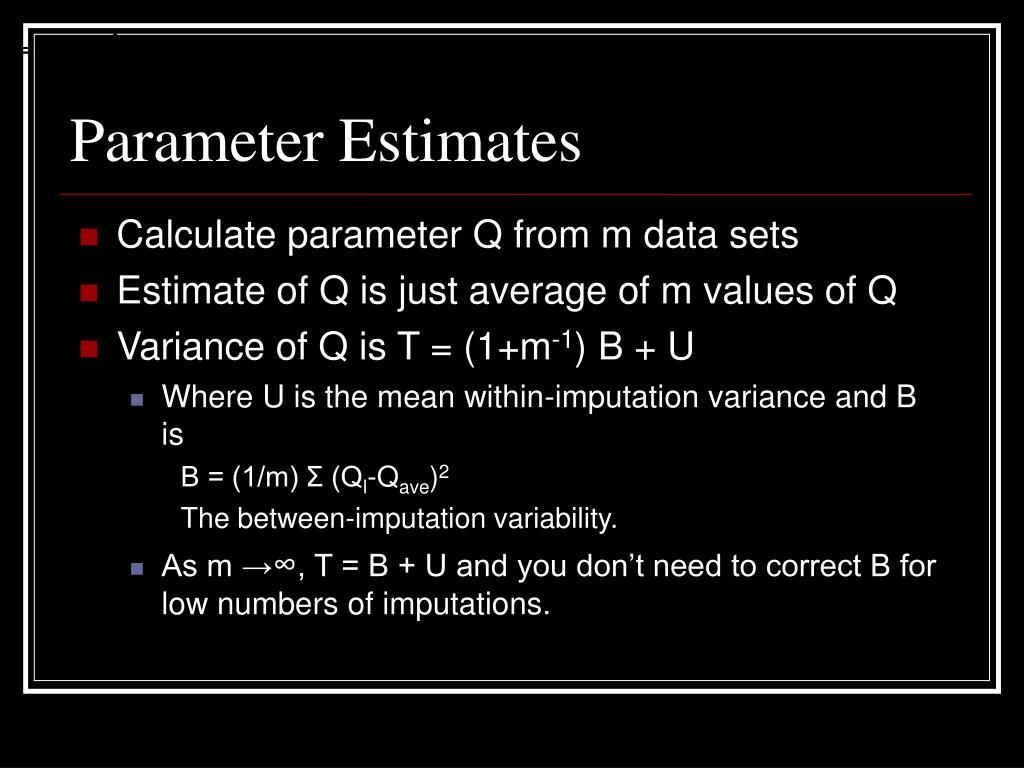 Parameter Estimates