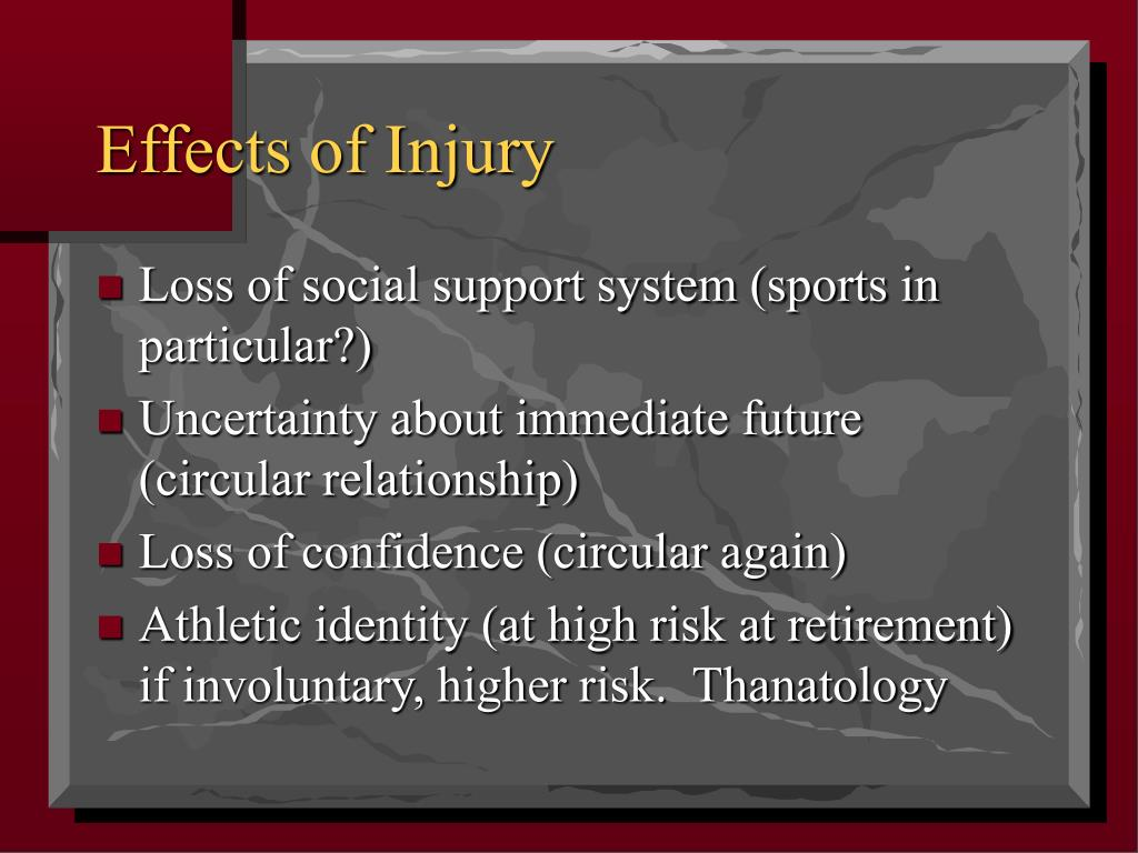 Effects of Injury