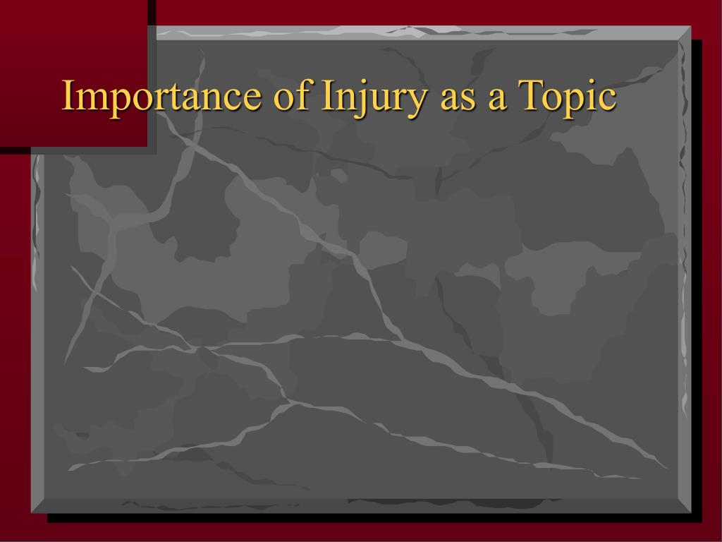 Importance of Injury as a Topic