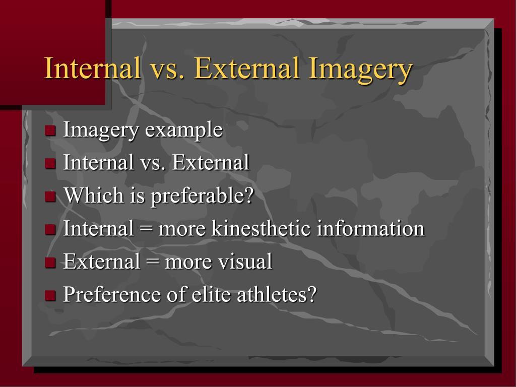 Internal vs. External Imagery