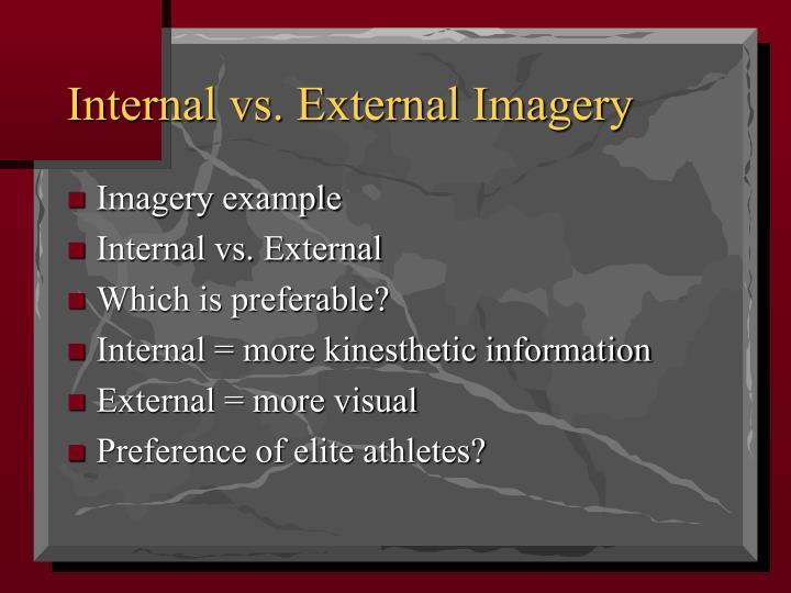 Internal vs external imagery