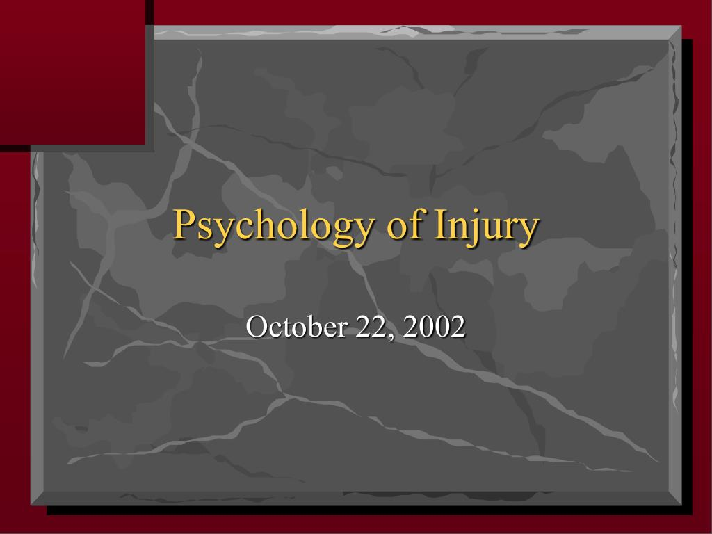 Psychology of Injury