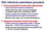 ruc reflectivity assimilation procedure