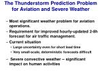 the thunderstorm prediction problem for aviation and severe weather