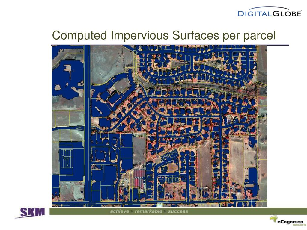 Computed Impervious Surfaces per parcel