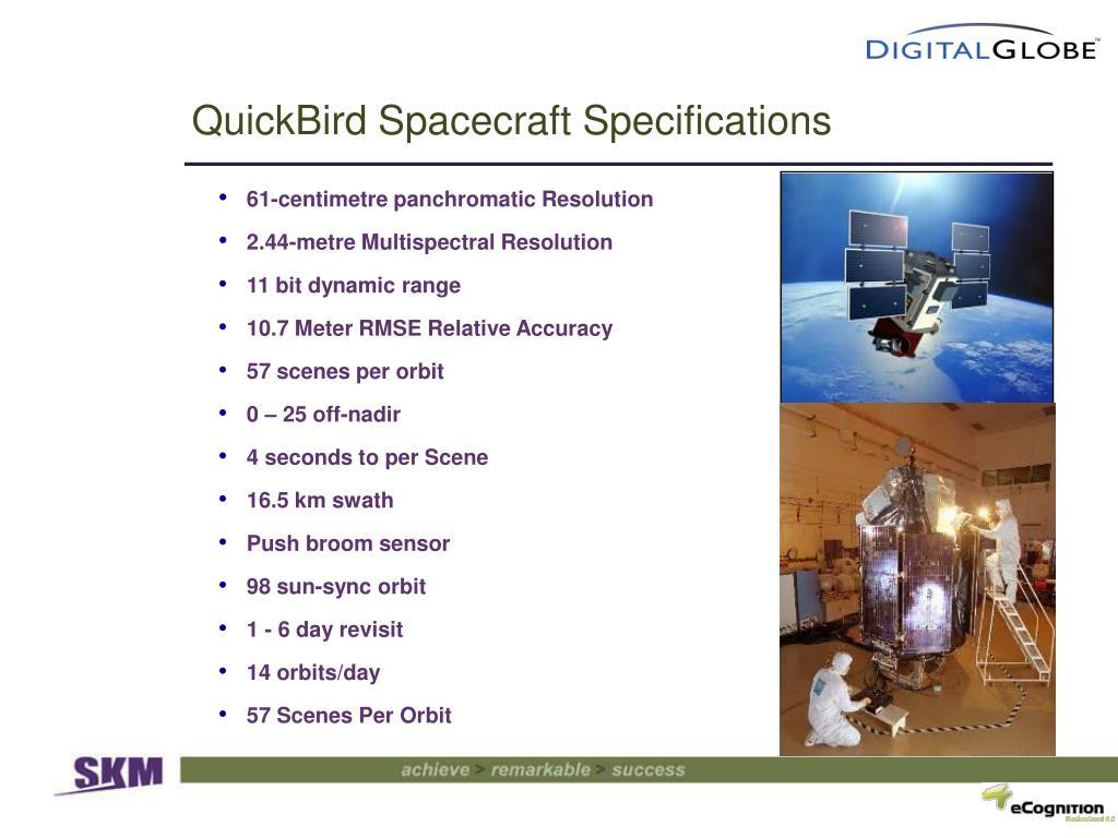 QuickBird Spacecraft Specifications