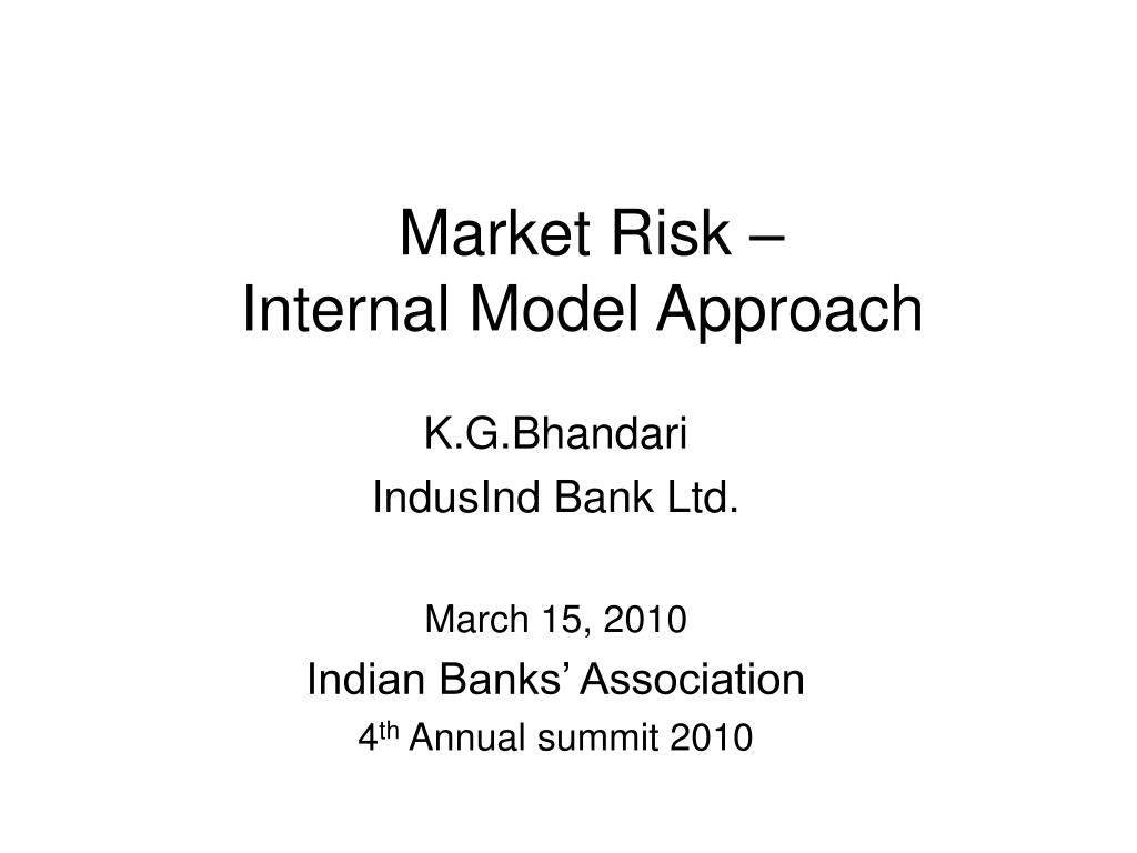market risk internal model approach l.