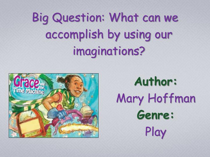 Author mary hoffman genre play