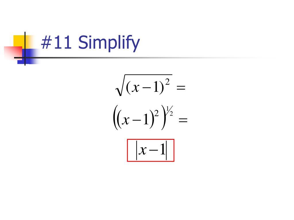 #11 Simplify