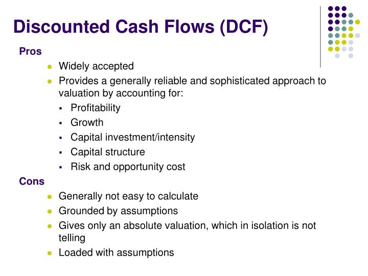Discounted cash flows dcf