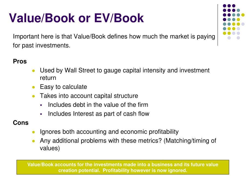 Value/Book or EV/Book