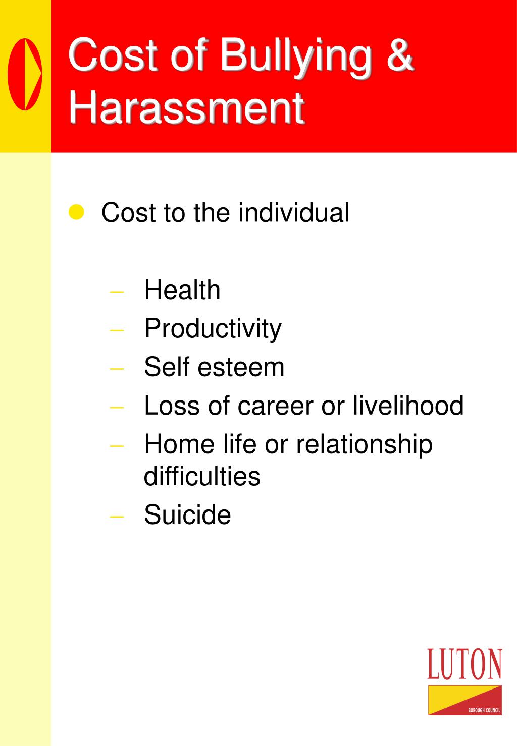Cost of Bullying & Harassment