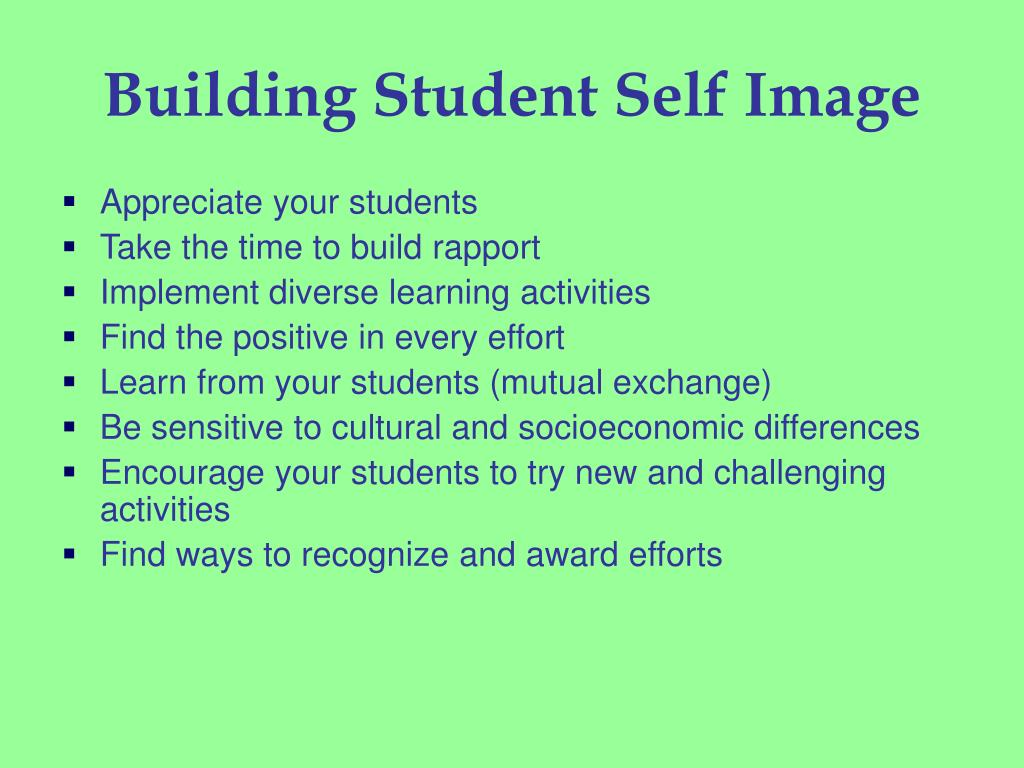 Building Student Self Image