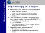 proposed imaging vcde projects