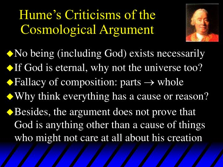 Hume s criticisms of the cosmological argument