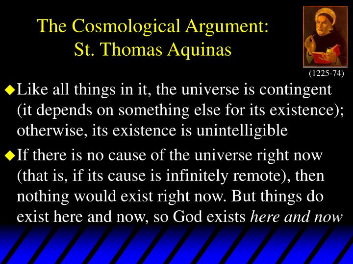 The cosmological argument st thomas aquinas