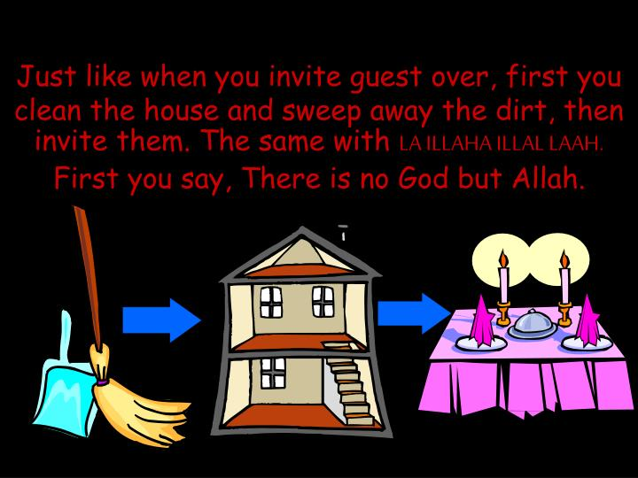 Just like when you invite guest over, first you clean the house and sweep away the dirt, then invite them. The same with
