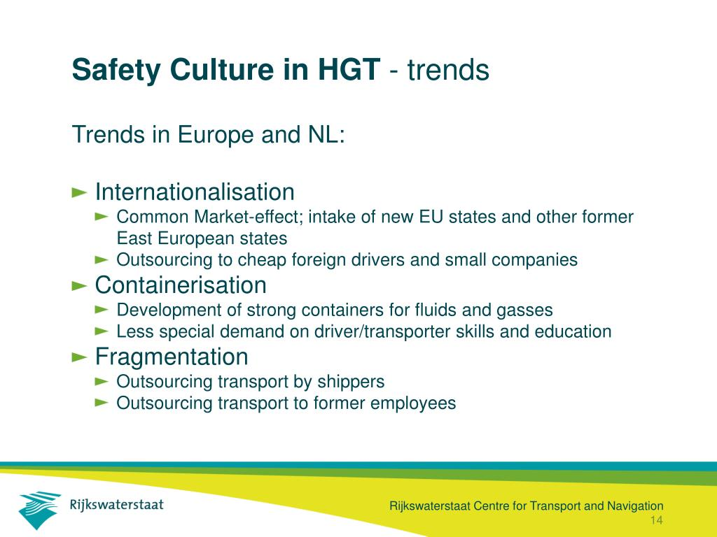 Safety Culture in HGT