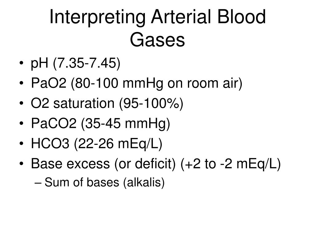 Interpreting Arterial Blood Gases