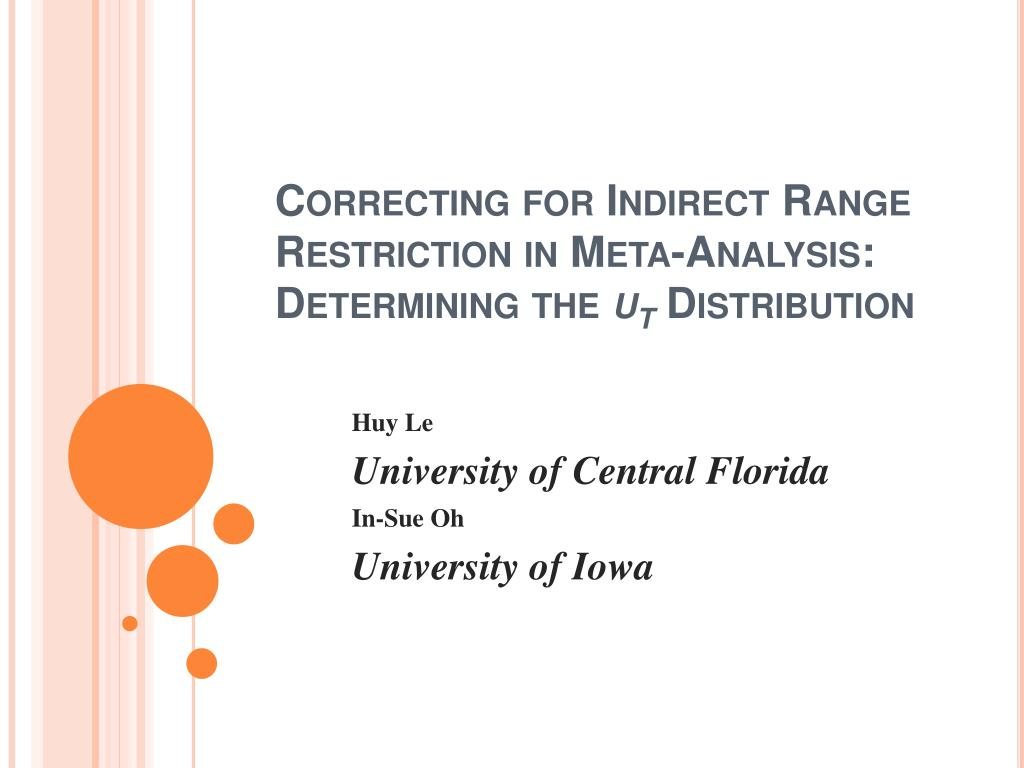Correcting for Indirect Range Restriction in Meta-Analysis: