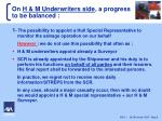 on h m underwriters side a progress to be balanced
