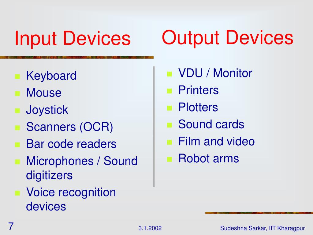 Output Devices