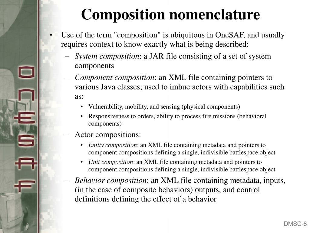 Composition nomenclature