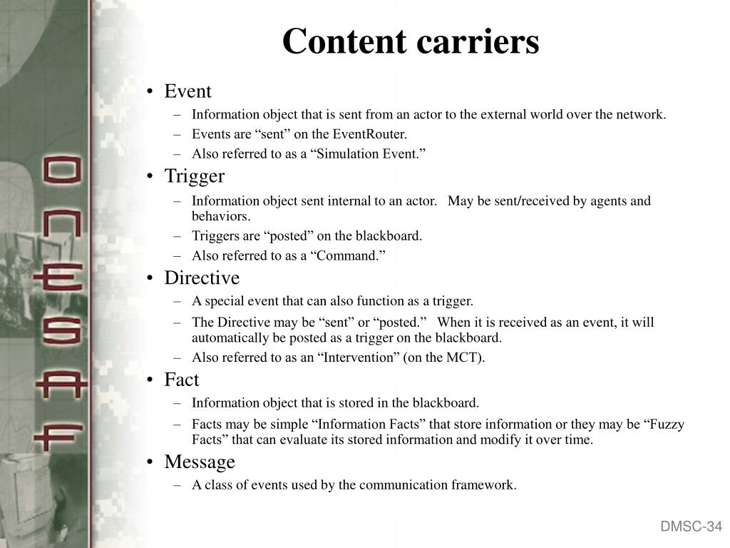 Content carriers