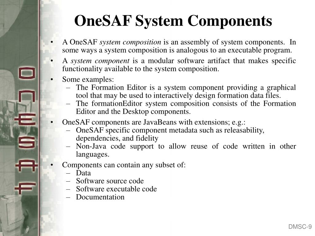 OneSAF System Components