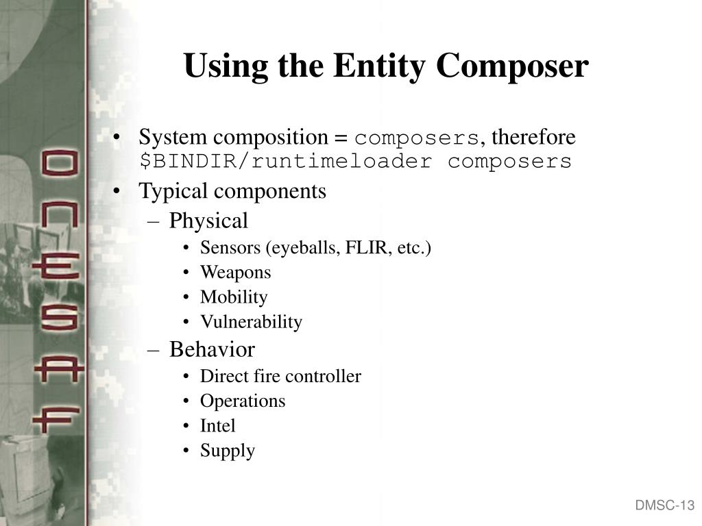 Using the Entity Composer