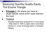 balancing quantity quality equity the elusive triangle13