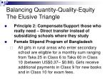 balancing quantity quality equity the elusive triangle15