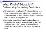 what kind of education orchestrating secondary curriculum20