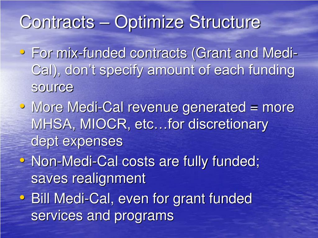 Contracts – Optimize Structure