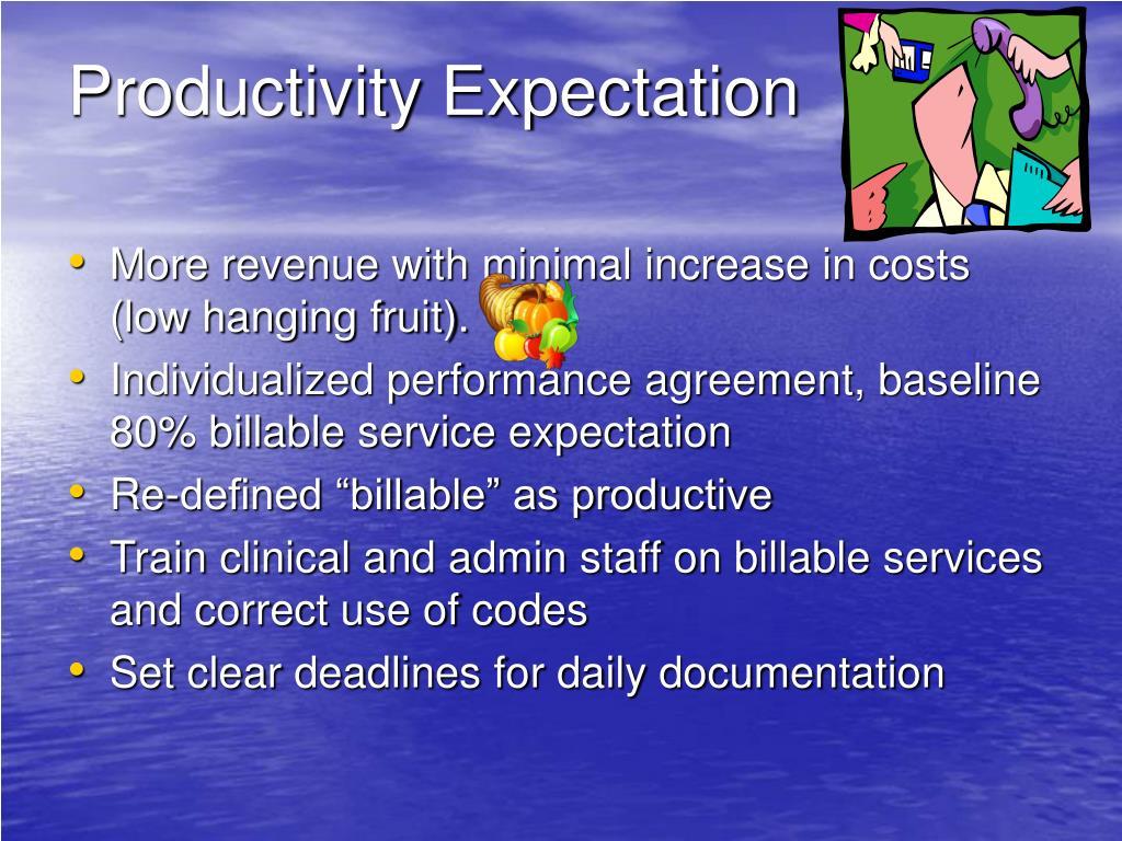 Productivity Expectation